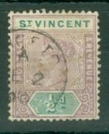 St Vincent: 1899   QV    SG67     ½d   Used - St.Vincent (...-1979)