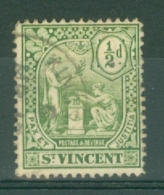 St Vincent: 1907/08   Emblem    SG94     ½d      Used - St.Vincent (...-1979)