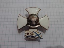 Insigne De La Marine. Plongeur Militaire. Bronze. émail Chaud - Russia