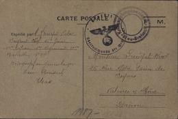 Guerre 39 45 Front Stalag Neu Breisach Cachet Muet Alsace Kriegsgefangenenlager Censure CP En FM 5 7 1940 - Marcophilie (Lettres)
