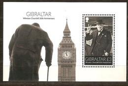 Gibraltar 2015 Micheln° Bloc 119 *** MNH Winston Churchill 50th Anniversary - Gibraltar