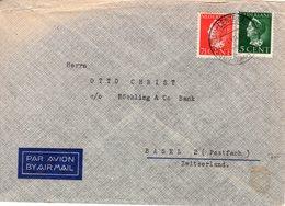 1946 Luchtpost-envelop Van Amstelveen Naar Basel 2 - Periode 1891-1948 (Wilhelmina)