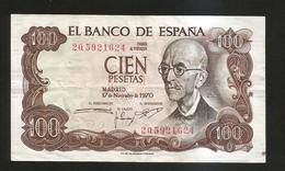 Spain / Espana - 100 Pesetas (M. De Falla) - Madrid 1970 - [ 3] 1936-1975 : Regime Di Franco
