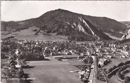 FLEURIER VUE AERIENNE-AEROPORT LAUSANNE-CH- VG AUTENTICA 100% - NE Neuchâtel