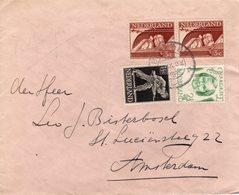 1947 Brief Met Mengfrankering Van Boskoop Naar Amsterdam - Periode 1891-1948 (Wilhelmina)