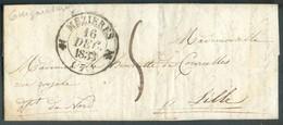 LAC De GUIGNICOURT 16 Décembre 1833 Via (dc ) MEZIERES * Vers Lille; Port '5' Décimes - TB - 13802 - Marcophilie (Lettres)