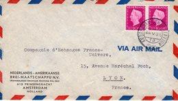 1948 Firmabrief Via AIR MAIL Van Amsterdam Naar Lyon - Periode 1891-1948 (Wilhelmina)