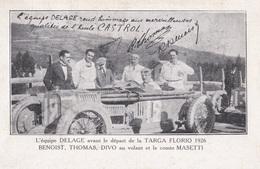 L' EQUIPE DELAGE // Avant Le Départ De La TARGAT FLORIO 1926 - Cartes Postales