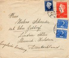 1948 Brief Met Mengfrankering Van SCHAESBERG Naar Lindau Schloss Via Gettorf - Periode 1891-1948 (Wilhelmina)