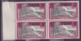 Togo N�65 10c Cocotier ** Bloc De 4 - Togo (1914-1960)