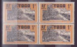Togo N�61 1c Cocotier ** Bloc De 4 - Neufs