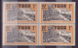 Togo N�61 1c Cocotier ** Bloc De 4 - Togo (1914-1960)