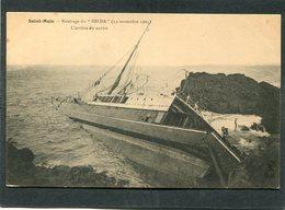 """CPA - SAINT MALO - Naufrage Du """"HILDA"""" (19 Novembre 1905) - L'arrière Du Navire - Saint Malo"""