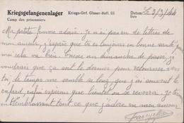 Volontaire Stalag Vitriés Travail Ds Villes Bombardées Par Alliés Kriegs Gef Glaser Batl III Gepruft Kof Glaser Bat III - Briefe U. Dokumente