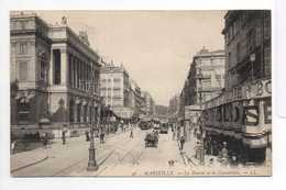 - CPA MARSEILLE (13) - La Bourse Et La Cannebière (belle Animation) - Editions Lévy N° 46 - - Canebière, Centre Ville
