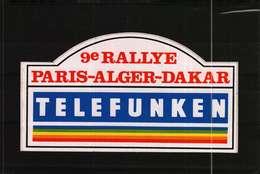 Autocollant  -    9e RALLYE PARIS-ALGER-DAKAR     TELEFUNKEN - Autocollants