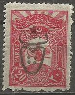 Turkey - 1917 Interior Post Overprint 20pa  MH *    Mi 557   Sc 496 - 1858-1921 Ottoman Empire