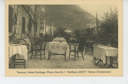 ESPAGNE - TOLOSA - Terraza - HOTEL ERENAGA - Plaza Gorriti - Espagne