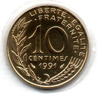 10 Centimes 1991 BU Frappe Médaille   -  état FDC - France