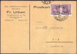 CZECHOSLOVAKIA - STEFANIK - JABLONEC Nad NISOU - 1938 - Cecoslovacchia
