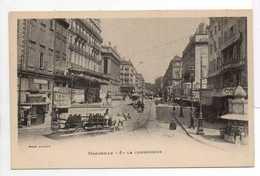- CPA MARSEILLE (13) - La Cannebière (belle Animation Avec Omnibus à Chevaux Et Tramways) - Photo Lacour - - Canebière, Centre Ville