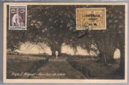 Congo, 1924, Bilhete Postal Roça De S. Miguel - Bambus Da Praia, For France - Congo Portuguesa