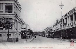 CPA Du Tonkin - Hanoï - Rue Paul-Bert (Nord) - Edition Dieulefit, N° 1. Non Circulée. TB état. - Vietnam