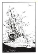 Paul GILLON - Moby Dick - Bateau Voilier - Baleine - Expo Parc Montsouris, 20 Rue Gazan, Paris 14e - Bande Dessinée - Bandes Dessinées