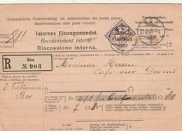 Recouvrement Interne Lettre En Reco De BEX - Briefe U. Dokumente