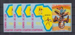T629. 4x Guinea - MNH - Art - Masks - Maps - Arts