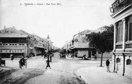 CPA Du Tonkin - Hanoï - Rue Paul-Bert - Edition Dieulefit, N° 2. Non Circulée. TB état. - Viêt-Nam