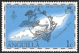 ANGUILLA  1974 - YT  161  -  UPU Et Carte  - NEUF* - Anguilla (1968-...)