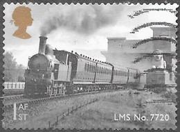 GB  - Locomotive - Adhésif -  Y&T N° 4054 - Oblitéré - 1952-.... (Elizabeth II)