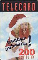 Austria Calling Card, Christmas Girl - Weihnachten - Oesterreich