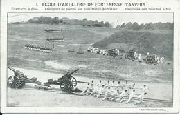 Ecole D'Artillerie De Forteresse D'Anvers,exercices á Pied 1914 - Weltkrieg 1914-18