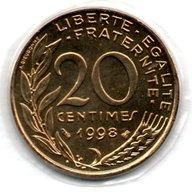 20 Centimes 1998    -  état FDC - E. 20 Centimes