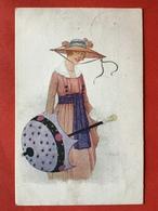 1920 - Illustrateur - DAME MET GROTE HOED EN PARASOL - GRAND CHAPEAU - Other Illustrators
