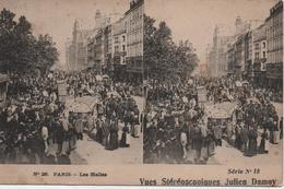 PARIS  LES HALLES  VUE STEREOSCOPIQUES  JULIEN DAMOY - Ambachten In Parijs
