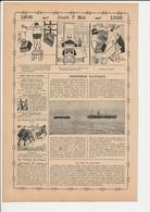 2 Scans Presse 1908 Albert Wolff Chroniqueur / Paquebot Suevic Cap Lizard Petits Pois Pigeon Homme Fort Poids 223CH19 - Sin Clasificación