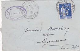 T.P Sur Lettre  N°365 Plessé>Guenhouet (Loire-Atlantique)..1938 - France