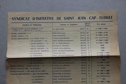 Syndicat D'Initiative De Saint-Jean-Cap-Ferrat (Alpes-Maritimes) - Dépliants Touristiques