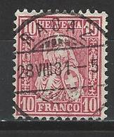 SBK 38, Mi 30 O Ragaz - 1862-1881 Helvetia Assise (dentelés)