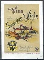 Etiquette De Vin Du Canton De Vaud  * Vins De La Commune D'Aigle * - Etiquettes