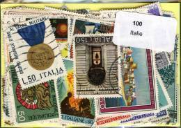 Lot 100 Timbres Italie - Timbres