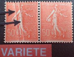 R1934/42 - TYPE SEMEUSE LIGNEE - (PAIRE) N°199 TIMBRES NEUFS** - VARIETE ➤➤➤ Double Pli Accordéon - Errors & Oddities