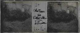 Plaque De Verre Stéréoscopique Positive - Année 1920 - Folleville - Château De Folleville - Diapositiva Su Vetro
