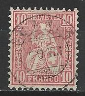 SBK 38, Mi 30 O Scanfs - 1862-1881 Sitzende Helvetia (gezähnt)