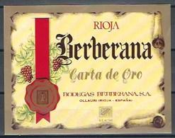 Etiquette D' Espagne  * Berberana, Rioja * - Etiquettes