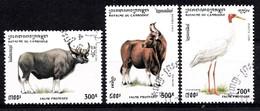 CAMBODJA 1995 MI.NR. 1511-1513 Geschützte Tiere  USED / GEBRUIKT / OBLITERE - Cambodja