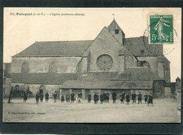 CPA - PAIMPONT - L'Eglise (ancienne Abbaye), Très Animé - Paimpont